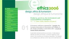 ETHICS : Design, Ethics and Humanism : Cumulus spring conference 2006, Nantes (France)